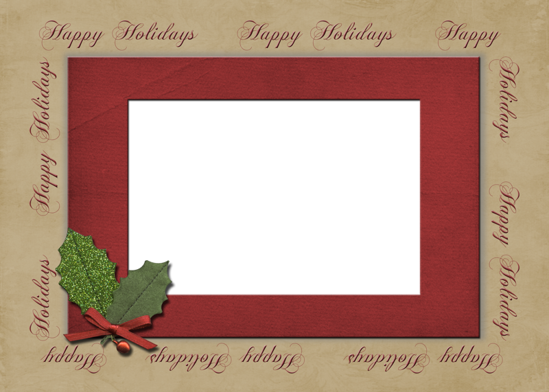 photo card template happy holiday quick album zookeenys